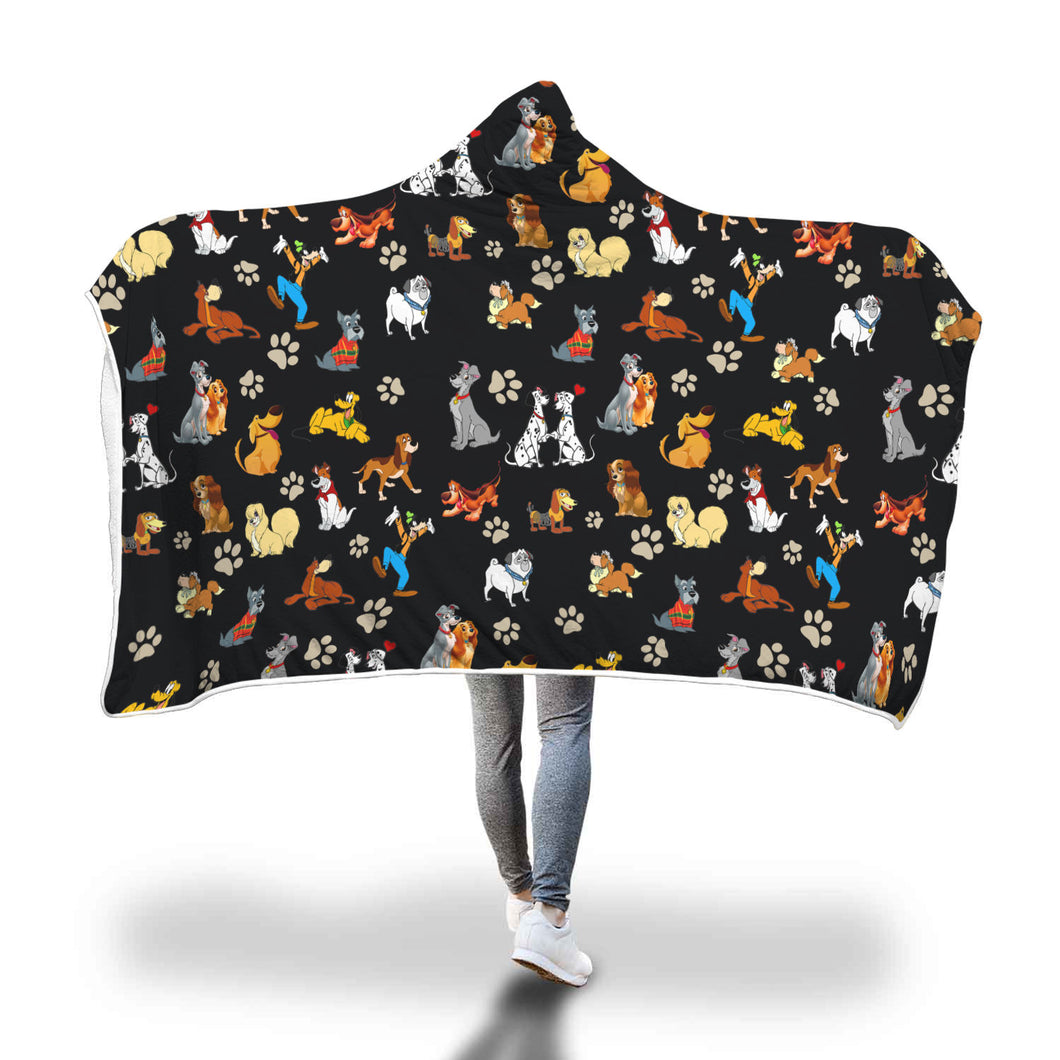 All Dogs Hooded Blanket