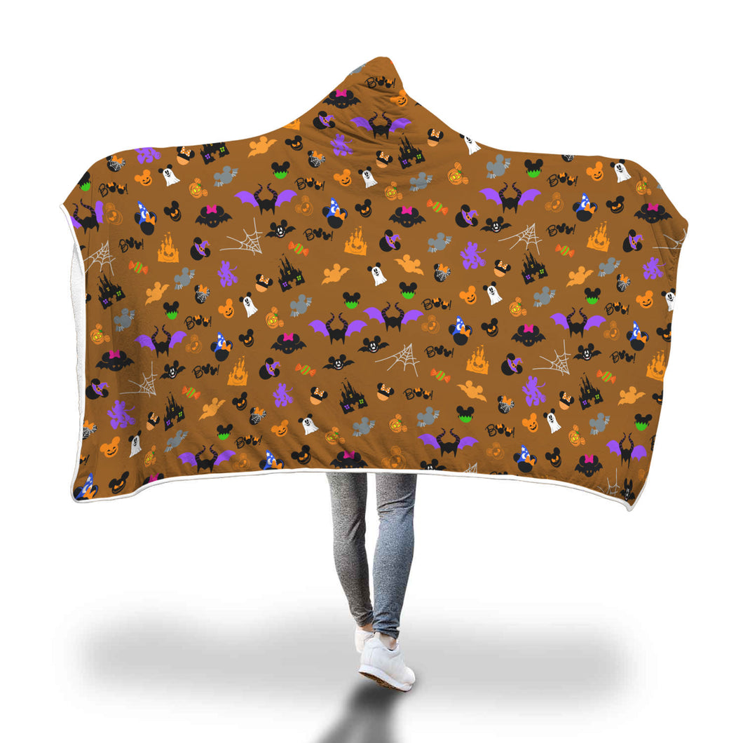 [Express Line Product+ 12$] Halloween Disney Hooded Blanket