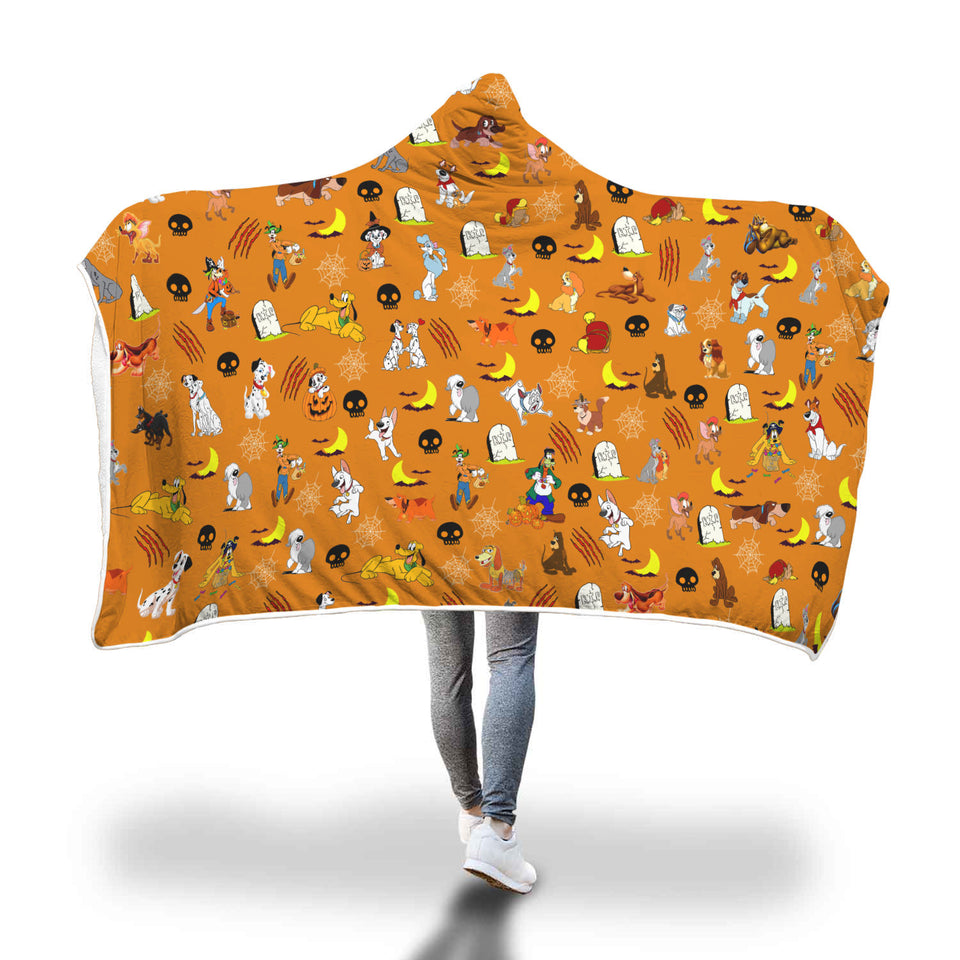 [Express Line Product+ 12$] Halloween Dogs Hooded Blanket