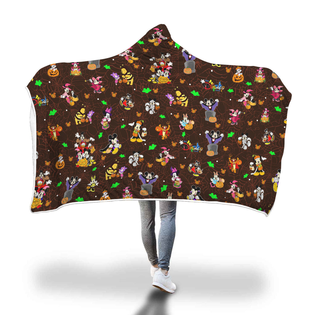 [Express Line Product+ 12$]Disney Halloween Hooded Blanket