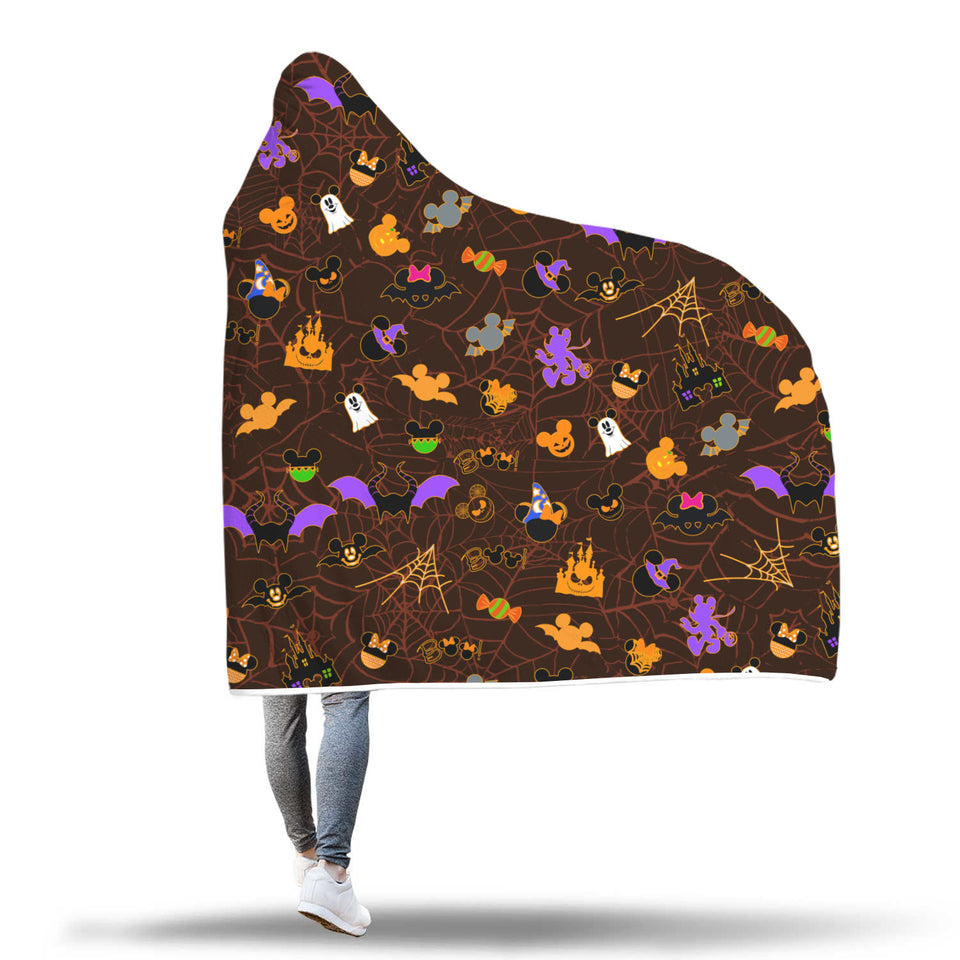 [Express Line Product+ 12$] Halloween Mickey Hooded Blanket
