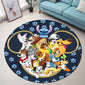 Dn Dogs Christmas Round Rug
