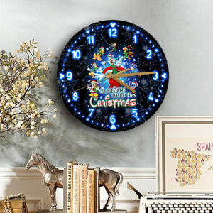 Mk & Friends Never Too Old For Christmas Wooden Clock