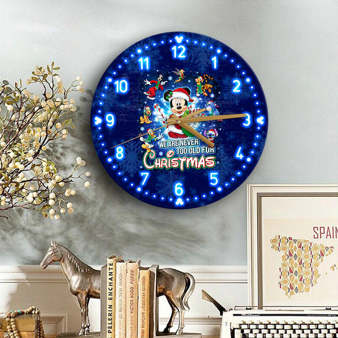 Tkb Never Too Old For Christmas Wooden Clock