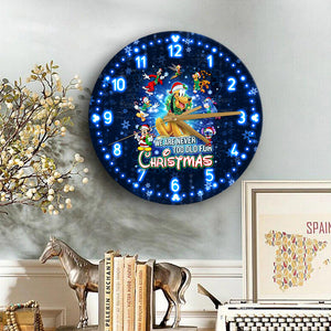 Plt Never Too Old For Christmas Wooden Clock