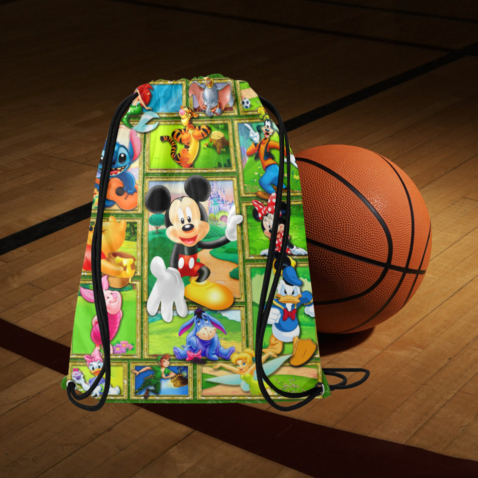 Mickey and Frineds Medium Drawstring Bag