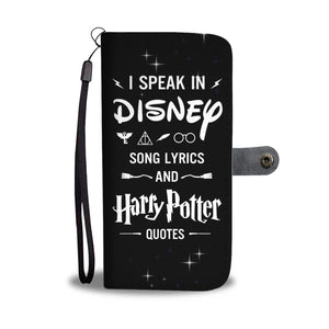 Song Lyrics Wallet Case