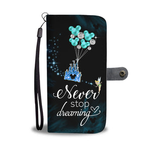 L.C Never Stop Dreaming Wallet Case