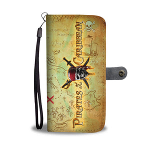 L.C PIRATES CARIBBEAN WALLET CASE