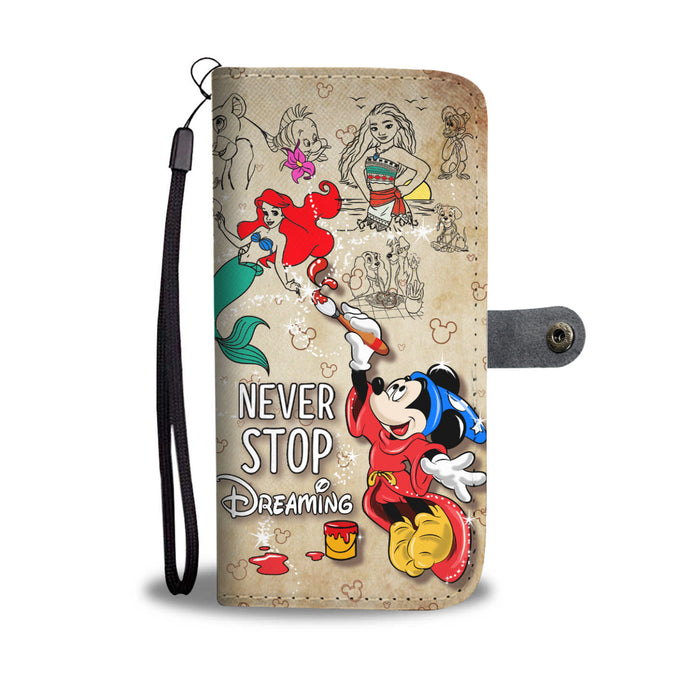 Never Stop Dreaming Wallet Case