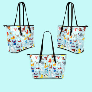Disney Dogs - Leather Tote Bag