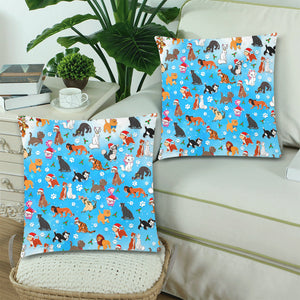 "Cat Christmas Custom Zippered Pillow Cases 18""x 18"" (Twin Sides) (Set of 2)"