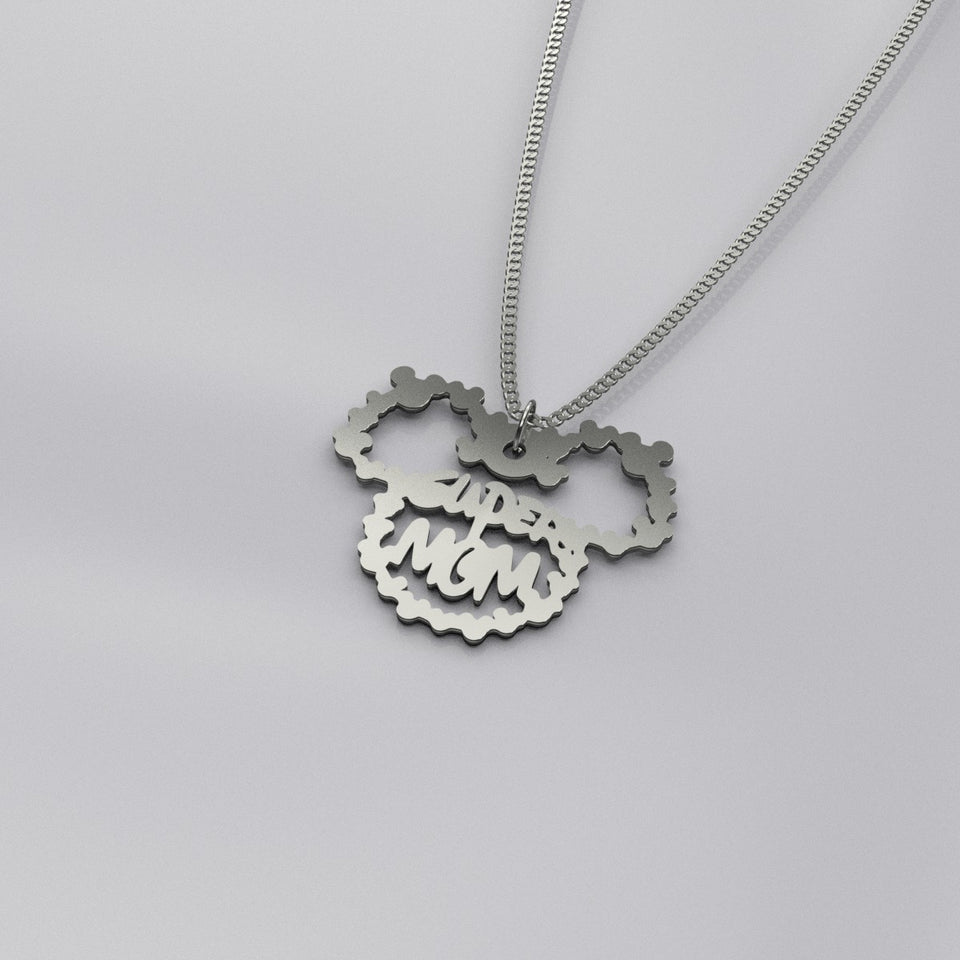 Mickey Super Mom Necklace[CORONA UPDATE: SHIPPING TO CANADA & AUSTRALIA IS UNAVAILABLE AT THE MOMENT]