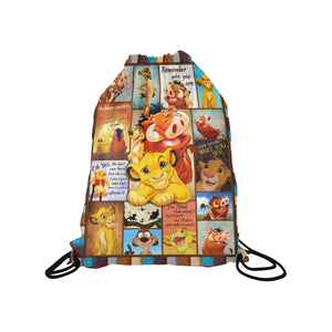 Lion KingMedium Drawstring Bag