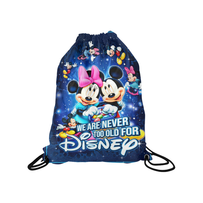 Mickey n Minnie Medium Drawstring Bag