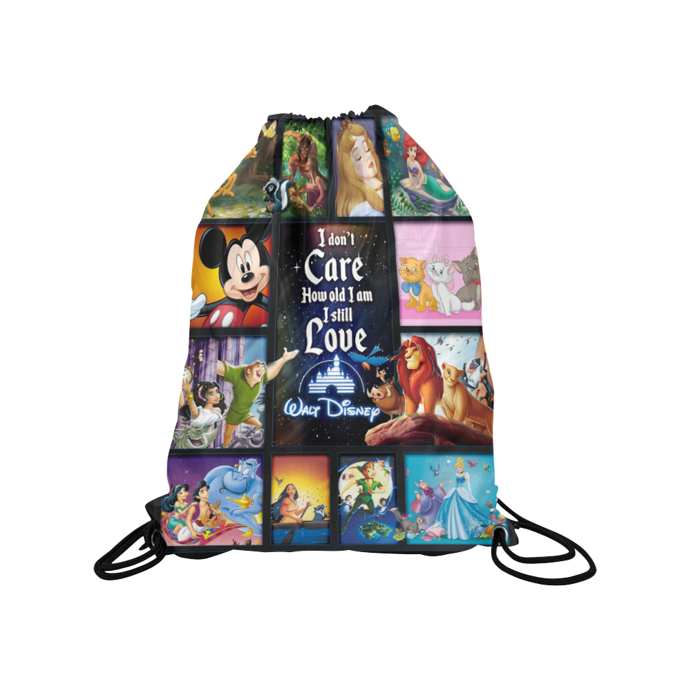 I still love design Medium Drawstring Bag