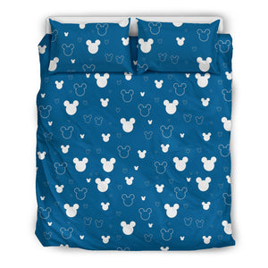 Mickey Blue Bedding Set (White)