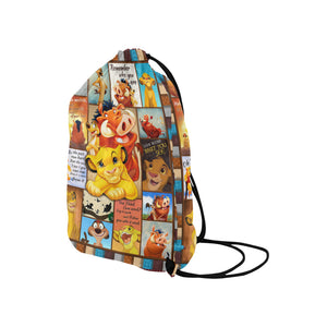 Lion Medium Drawstring Bag