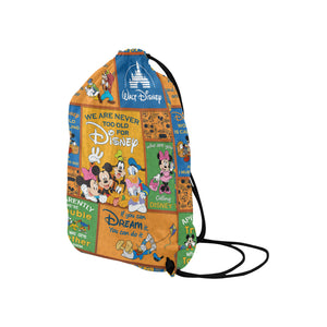 Mickey n Friends Medium Drawstring Bag