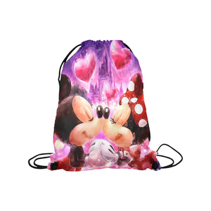 Mickey Minnie Medium Drawstring Bag