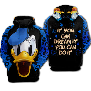 Donald Duck - Hoodie All Over Print