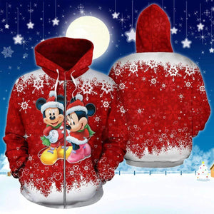 .Mickey and Minnie - Zip Hoodie