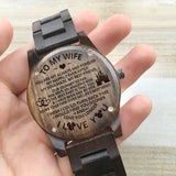 WOODEN WATCH - TO MY WIFE, LOVE YOU LONGER