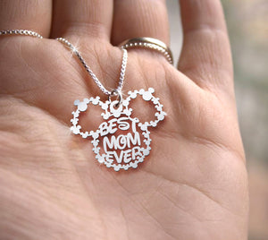 Mickey Best mom ever necklace [CORONA UPDATE: SHIPPING TO CANADA & AUSTRALIA IS UNAVAILABLE AT THE MOMENT]