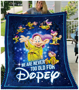 DP Never old for Disney - Premium Blanket