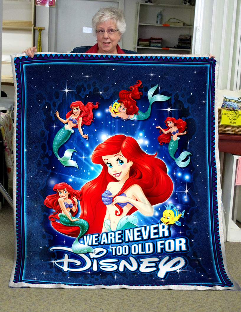 Ariel Never old for Disney - Premium Blanket