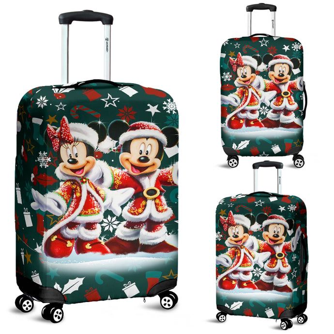 Mickey - Minnie Christmas Luggage Covers