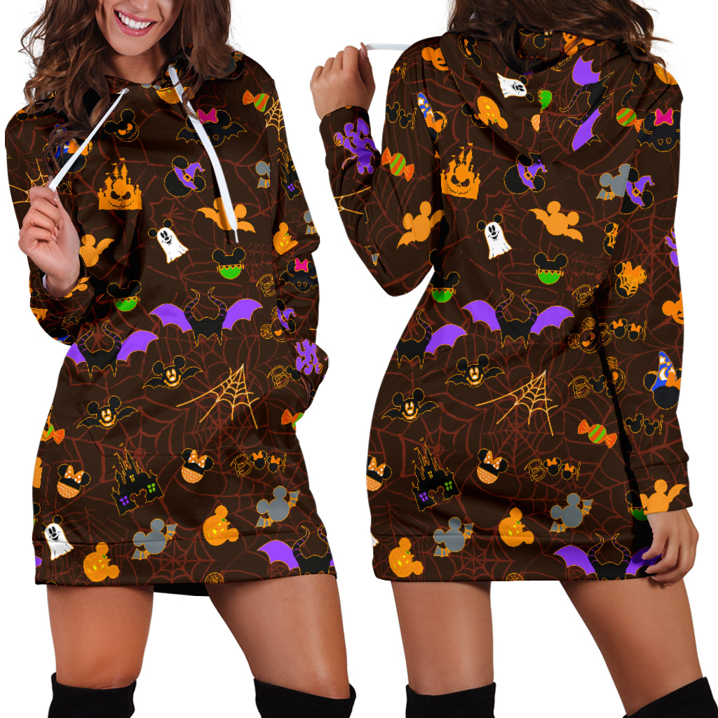 [Express Line Product+ 12$] Halloween Mickey Women's Hoodie Dress