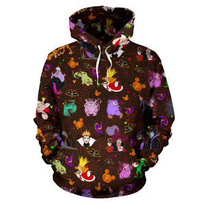 [Express Line Product+ 12$] Villain Disney Halloween All Over Hoodie