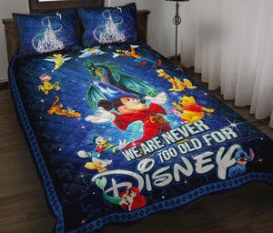 Disney Never Too Old Quilt Bed Set