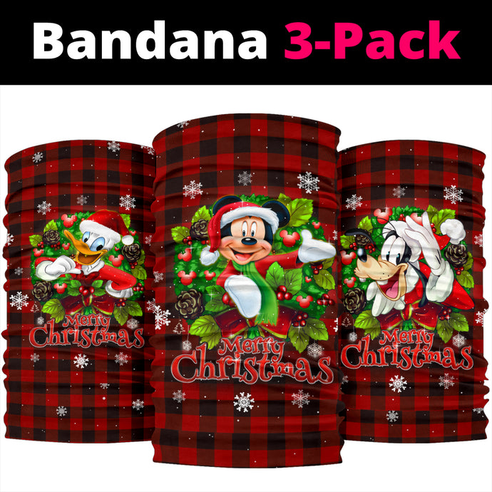 Mickey - Goofy - Donald Christmas  Bandana 3pcs/Pack