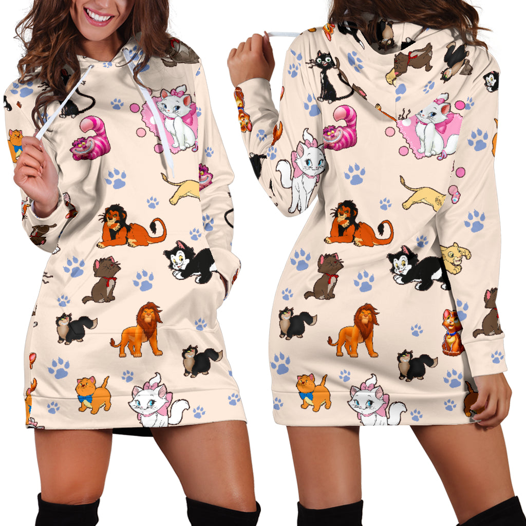 Cats Hoodie Dress