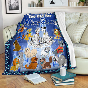 Never Too Old DN Dogs Blanket