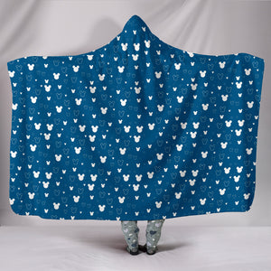 Mickey Blue Hooded Blanket