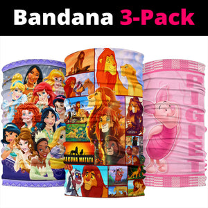 Disney Princess- Lion King- Piglet Bandana 3pcs/pack