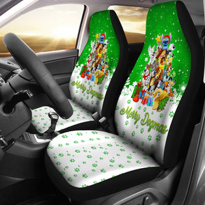 Disney Dogs Christmas Car Seat Covers
