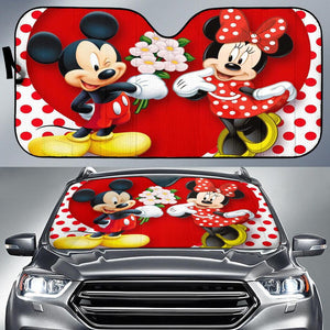 MICKEY N MINNIE LOVE AUTO SUN SHADE