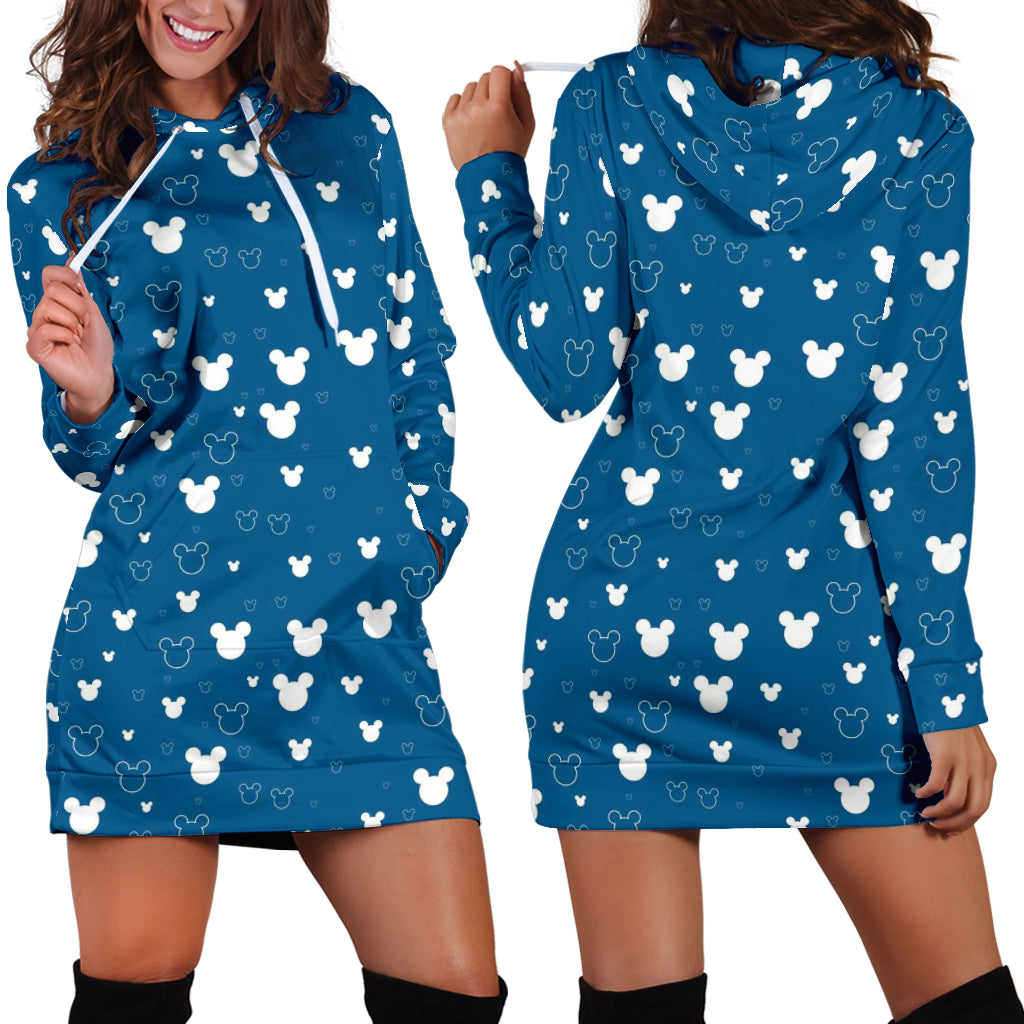 Mickey Blue Hoodie Dress