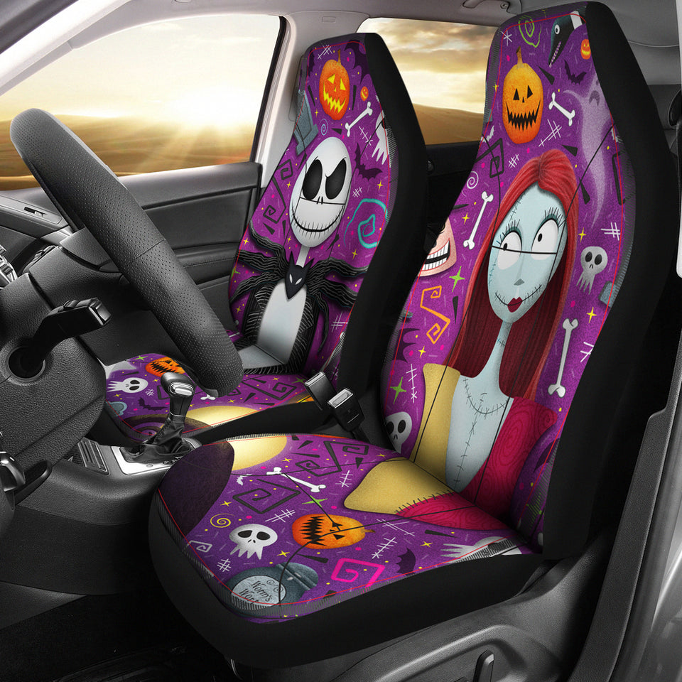 Jack And Sally Car Seat Cover