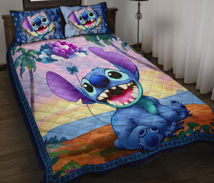 Stitch Quilt Bed Set