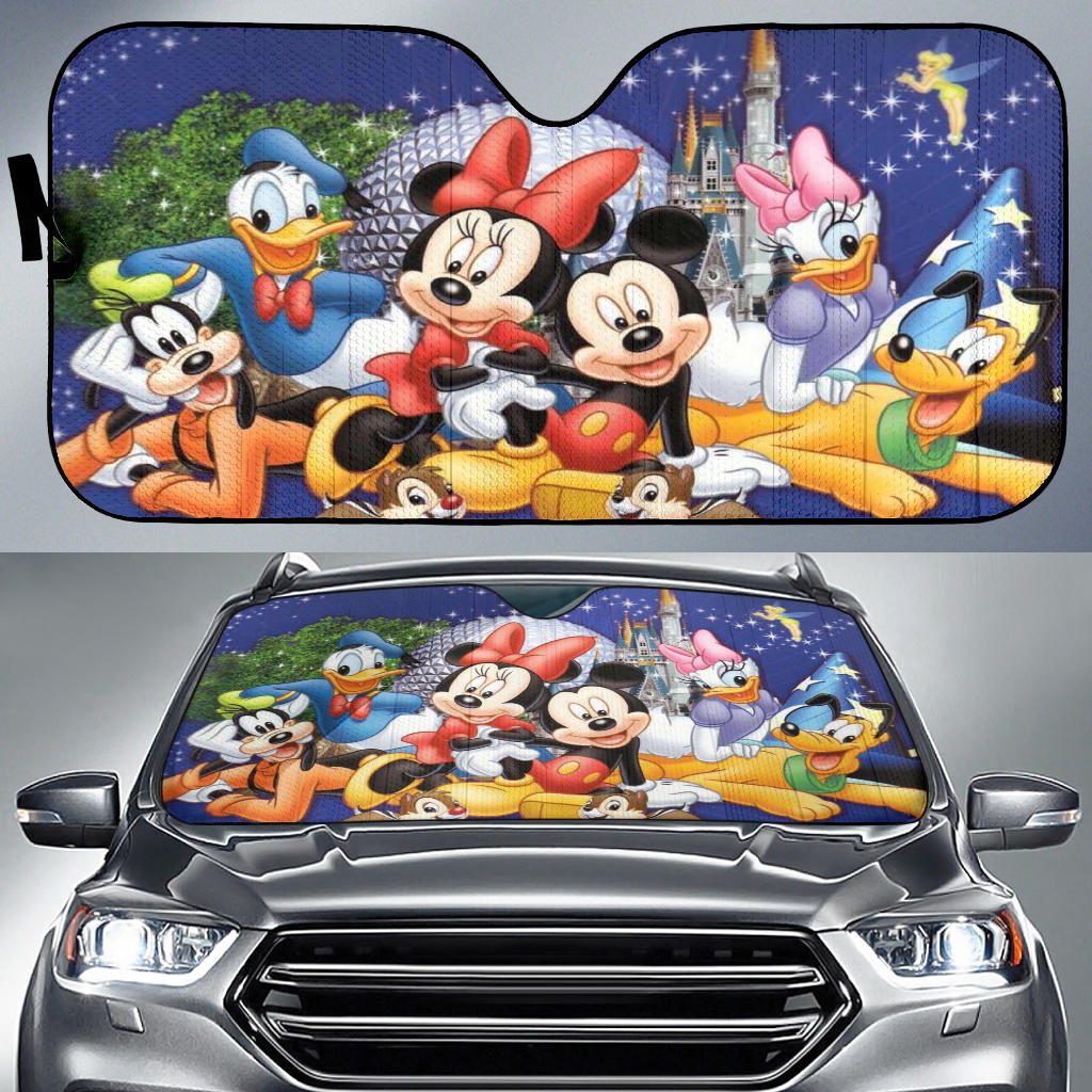 Mickey n Friends Auto Sun Shade