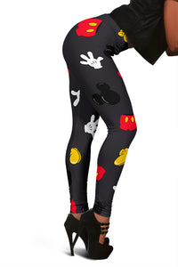 MINI MICKEY PATTERN LEGGINGS BLACK