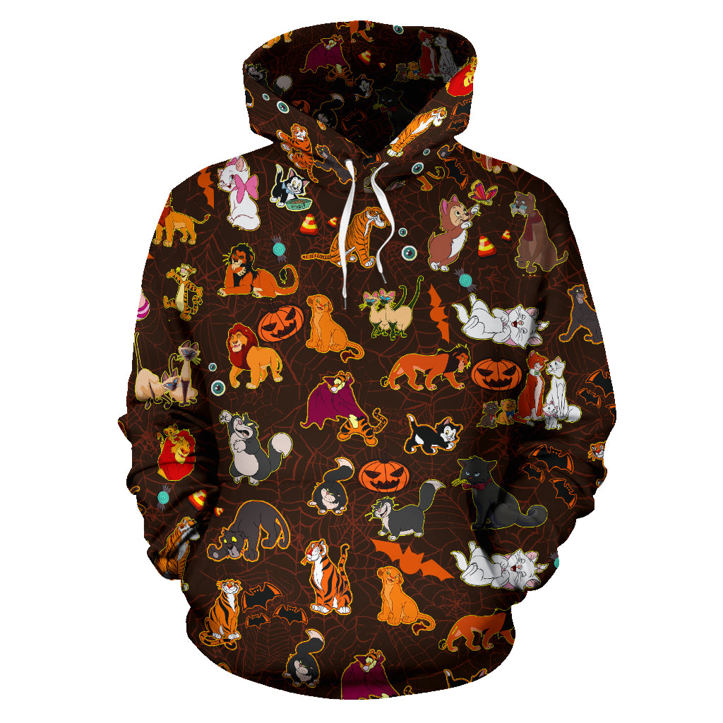[Express Line Product+ 12$] Cats DN Halloween All Over Hoodie