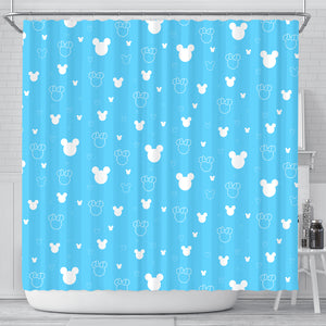 Blue Shower Curtains