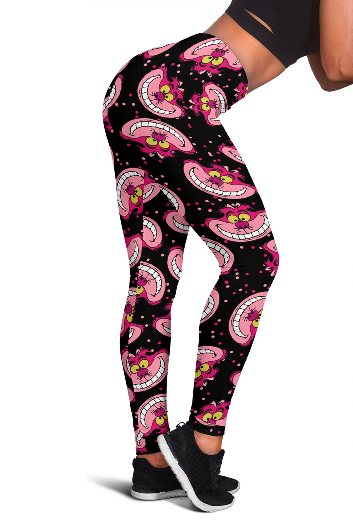 Cheshire Cat Black Leggings