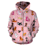 Disney Kitty - Zip Up Hoodie